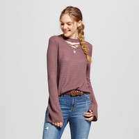 Women's Choker Strappy Bell Sleeve Sweater - Alley & Gabby® (Juniors')