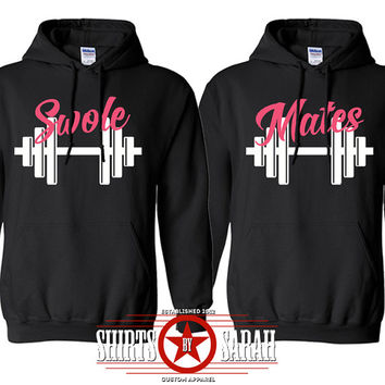 Swole Mates Workout Hoodie Pullover Sweatshirt Best Friends Shirts Gym Save Sale Buy 2