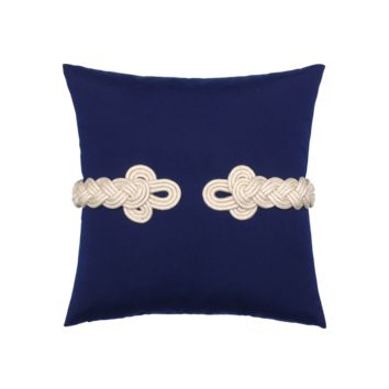 Navy Frog's Clasp Pillow