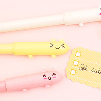 Buy Kawaii Silly Emoji Animal Fineliner Pen at Tofu Cute