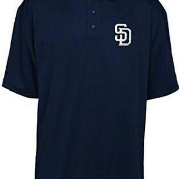 San Diego Padres Majestic E-Systems Performance Navy Polo Shirt Big & Tall Sizes