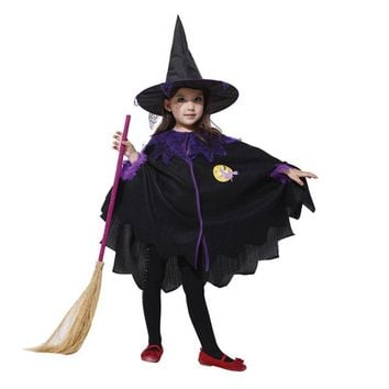 Umorden Halloween Costumes for Baby Girl Toddler Kids Sorceress Witch Costume Cosplay Fancy Dress Cape