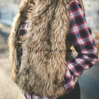 Simple Love Faux Fur Vest