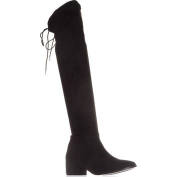 Chinese Laundry Mystical Pull On Over-The-Knee Boots, Black, 6.5 US / 37 EU