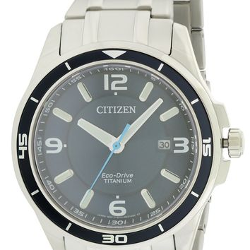 Citizen Eco-Drive TI+IP Stainless Steel Watch BM6929-56L