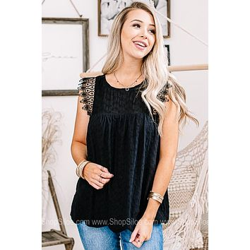 Those Who Wander Eyelet & Lace Top