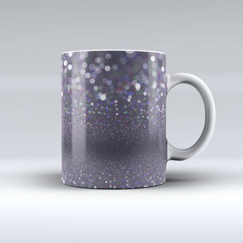 The Purple and Black Unfocused Orbs of Light ink-Fuzed Ceramic Coffee Mug