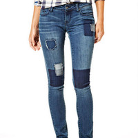 Taylor Low-Rise Skinny Jeans with Patches