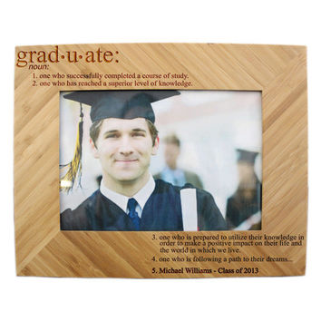 Personalized Wooden Graduation Picture Frame