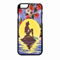 Ariel Little Mermaid Disney Flower Vintage iPhone 6 Plus Case