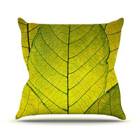 "Robin Dickinson ""Every Leaf a Flower"" Outdoor Throw Pillow, 20"" x 20"" - Outlet Item"