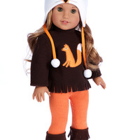 Foxy - Doll Clothes for 18 inch American Girl Doll- 4 Piece Doll Outfit - Hat, Blouse, Leggings and Boots