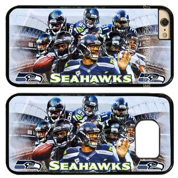 Seattle Seahawks Football Team PC+TPU Edge Cell Phone Case Cover Fits For iphone X 5 5s 6 6s 6 plus 7 8 plus T0247
