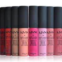 NYX soft matte dull liquid NYX lipstick vintage long lasting 10 pc set 2 Free Bonus