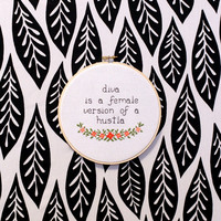 "Beyonce ""Diva is a female version of a huslta"" Cross Stitch"