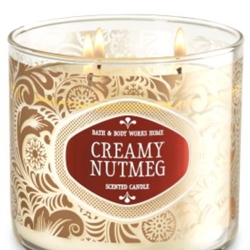 3-Wick Candle Creamy Nutmeg