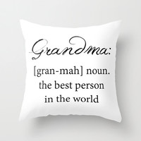 Grandma Definition - Throw Pillow Cover Includes Pillow Insert - Sofa Pillow - Throw Pillow - Made to Order