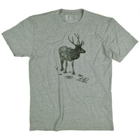 Elk T-Shirt Dark Grey Heather