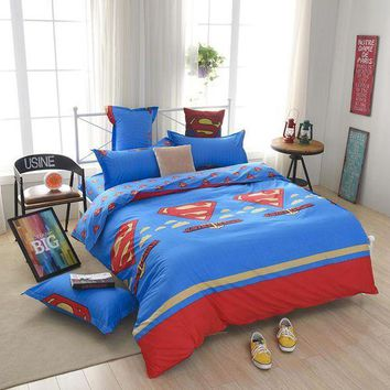 ESB1ON cartoon  kids children boy girl bedclothes bedding set quilt cover set