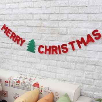Party Decoration Merry Christmas Letter Banner Garland Supplies
