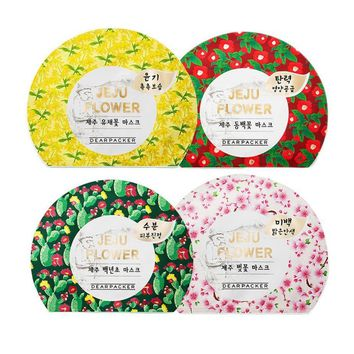 [Dearpacker] Jeju Flower Mask Sheets x 4 Types