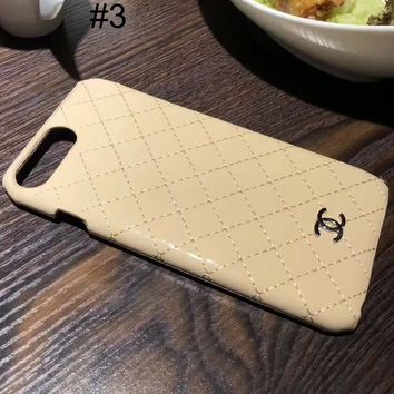 Chanel 2018 trendy men and women couple models iPhone6Plus mobile phone case cover F-OF-SJK #3