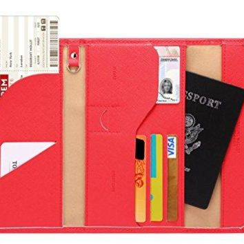 Zoppen Mulit-purpose Rfid Blocking Travel Passport Wallet (Ver.4) Trifold Document Organizer Holder