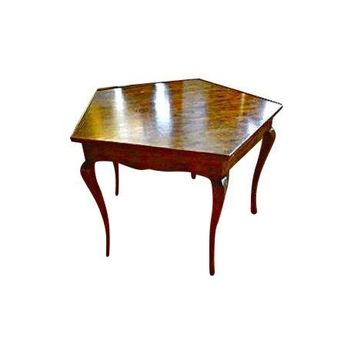 Pre-owned Antique Queen Anne Pentagon Table