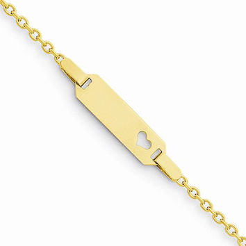 14K Childs Heart ID Bracelet