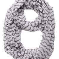 With Love From CA Grey White Geo Scarf at PacSun.com