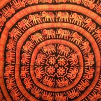 Elephant Mandala Tapestry Tie Dye Orange - Mellow Mood