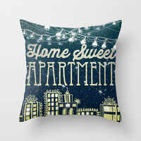 Home Sweet Apartment Throw Pillow by Jenndalyn