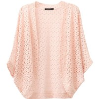 Hollow Out Cardigan with Seven Sleeves in Pure Color