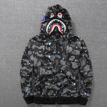 Bape Hoodies Noctilucent Long Sleeve Hip-hop Hats [429892763684]