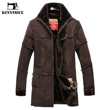 Long Coats Patchwork Leather Jackets Men Warm Coat Outerwear Faux Suede Jacket Luxury Jacket Mens Jackets and Coats