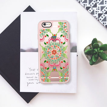Folk art medallions transparent iPhone 6s case by Heaven Seven | Casetify