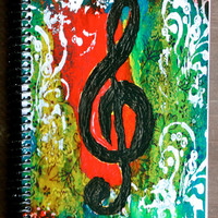 """Create Music 5.5""""x8.5"""" Lined Paper Coil Bound Notebook, Lined Paper Journal, Wholesale Notebooks, Stationary"""