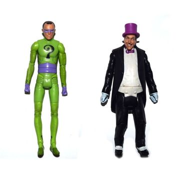 "Batman Dark Knight gift Christmas DC Universe Batman 1966 Tv Series Riddler Penguin 6"" Loose Action Figure FREE SHIPPING XMAS GIFT AT_71_6"