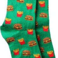 Socksmith Fast Food Women's Crew Socks,	Green