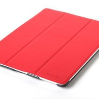 Poetic Protective Case for The NEW iPad HD / iPad 2 / iPad 3 /iPad 4 with Built-in Folding Cover Red - Support Auto Wake/Sleep Function (3 Year Manufacturer Warranty From Poetic)