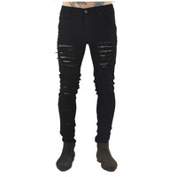 Men Ripped Distressed Skinny Jeans