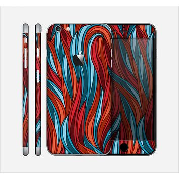 The Red, Orange and Blue Vector Strands Skin for the Apple iPhone 6 Plus