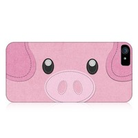 Head Case Designs Pig Animal Patches Protective Snap-on Hard Back Case Cover for Apple iPhone 5 5s
