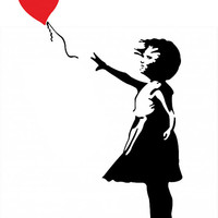 Banksy Girl with Heart Balloon Car Decal Sticker