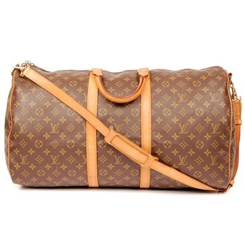 Louis Vuitton Keepall 55 With Strap 4579 (Authentic Pre-owned)