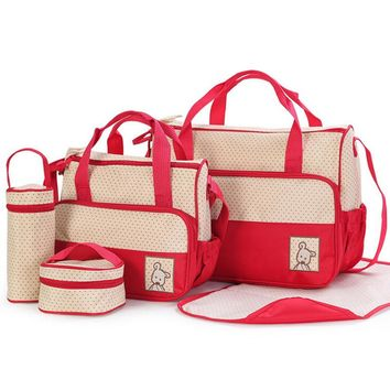 5PCS/Set  Fashion Baby Diaper Bag