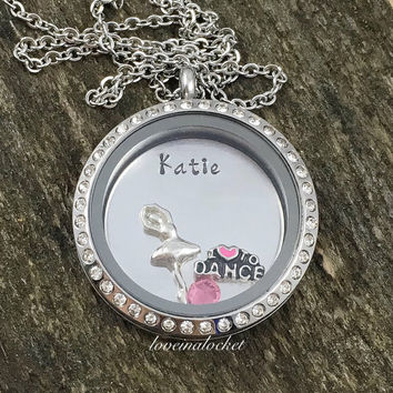 Ballerina Locket, Personalized Ballerina Necklace, Ballerina Gift, Ballet Dancer Jewelry, Dance Teacher Gift, Ballerina Jewelry, Ballet Gift