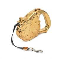 Dog Leashes Pet Auto Leash Retractable Puppy Cat Luxury Design 3M Long Traction Rope Chain Top Quality 20KG Gold/Sliver Colors