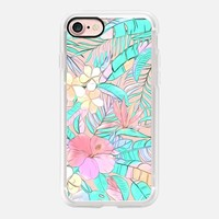 Pastel Island Hibiscus on transparent iPhone 7 Case by Micklyn Le Feuvre | Casetify