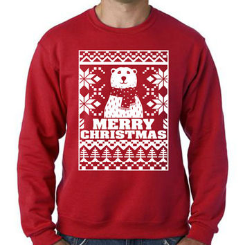 Cute Christmas Sweatshirt Christmas Bear Unisex Size  S M L XL XXL